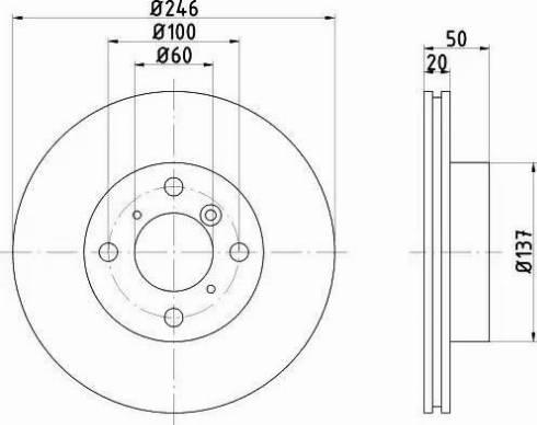 HELLA 8DD 355 107-391 - Bremžu diski interparts.lv
