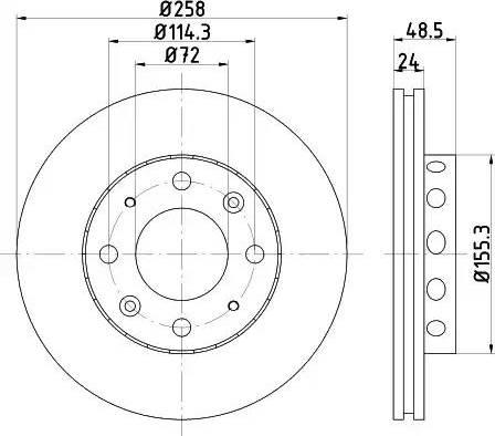 HELLA 8DD 355 107-361 - Bremžu diski interparts.lv