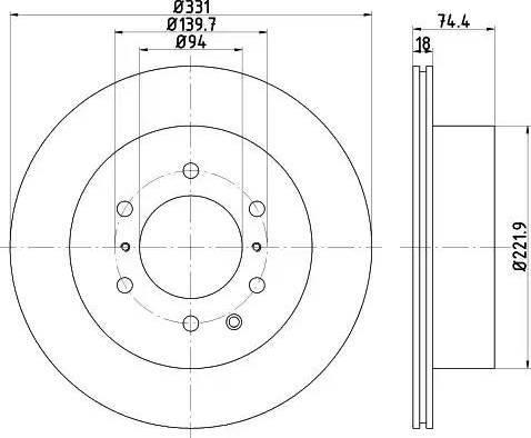 HELLA 8DD 355 119-091 - Bremžu diski interparts.lv