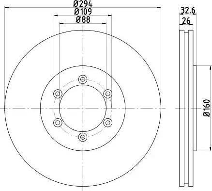 HELLA 8DD 355 114-121 - Bremžu diski interparts.lv