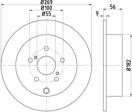 HELLA 8DD 355 114-891 - Bremžu diski interparts.lv