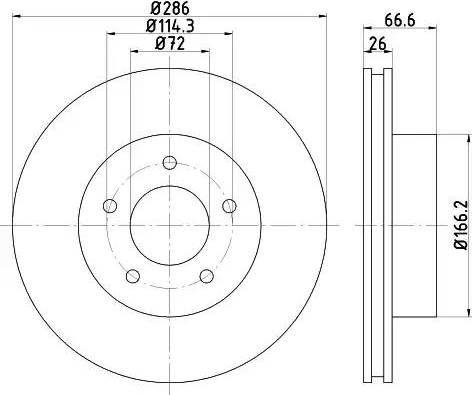 HELLA 8DD 355 114-761 - Bremžu diski interparts.lv
