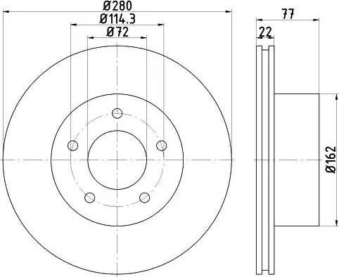 HELLA 8DD 355 115-901 - Bremžu diski interparts.lv