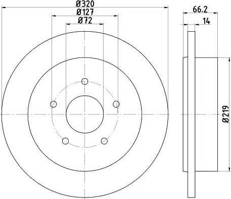 HELLA 8DD 355 115-501 - Bremžu diski interparts.lv