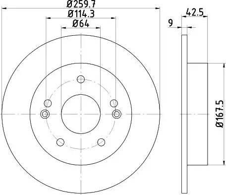 HELLA 8DD 355 115-021 - Bremžu diski interparts.lv