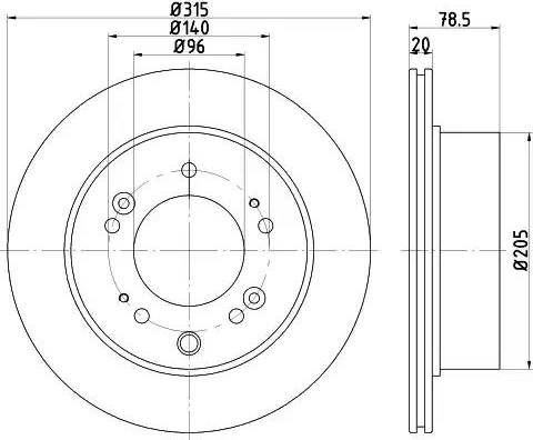 HELLA 8DD 355 116-571 - Bremžu diski interparts.lv