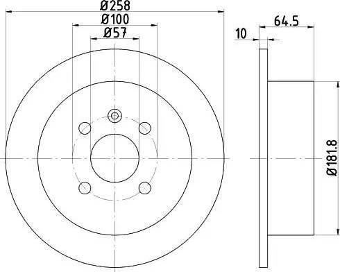 HELLA 8DD 355 110-691 - Bremžu diski interparts.lv