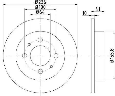 HELLA 8DD 355 110-651 - Bremžu diski interparts.lv