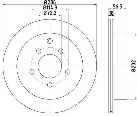 HELLA 8DD 355 110-851 - Bremžu diski interparts.lv