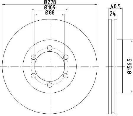 HELLA 8DD 355 111-991 - Bremžu diski interparts.lv