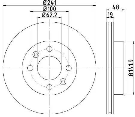 HELLA 8DD 355 111-431 - Bremžu diski interparts.lv