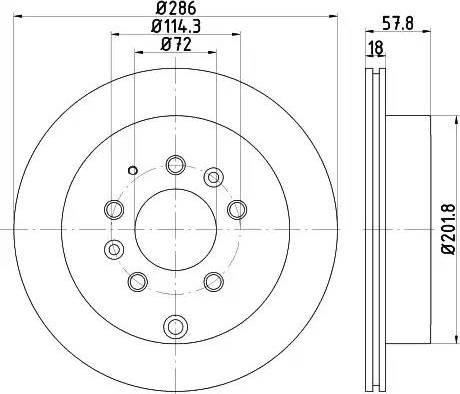 HELLA 8DD 355 118-551 - Bremžu diski interparts.lv