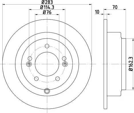 HELLA 8DD 355 118-091 - Bremžu diski interparts.lv