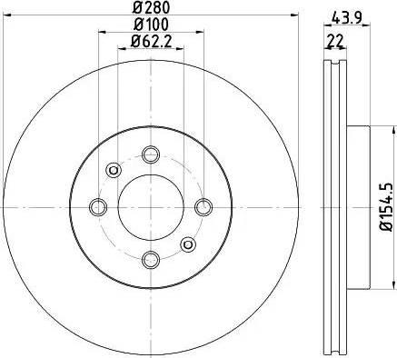 HELLA 8DD 355 118-251 - Bremžu diski interparts.lv
