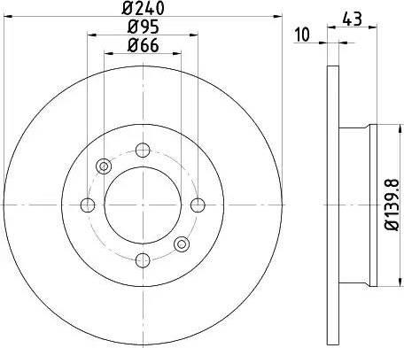 HELLA 8DD 355 113-361 - Bremžu diski interparts.lv