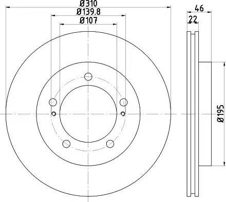HELLA 8DD 355 112-991 - Bremžu diski interparts.lv