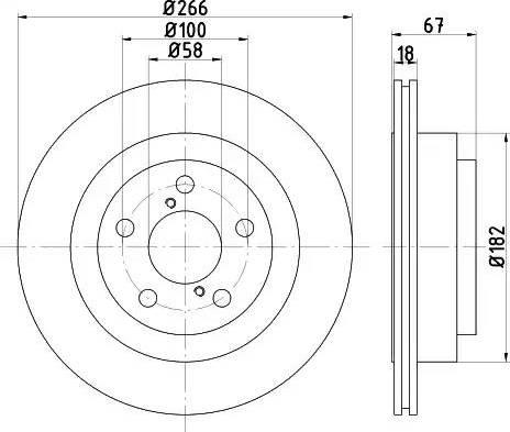 HELLA 8DD 355 112-341 - Bremžu diski interparts.lv