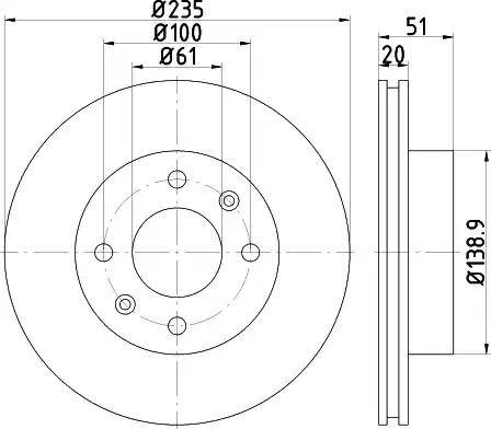 HELLA 8DD 355 117-681 - Bremžu diski interparts.lv