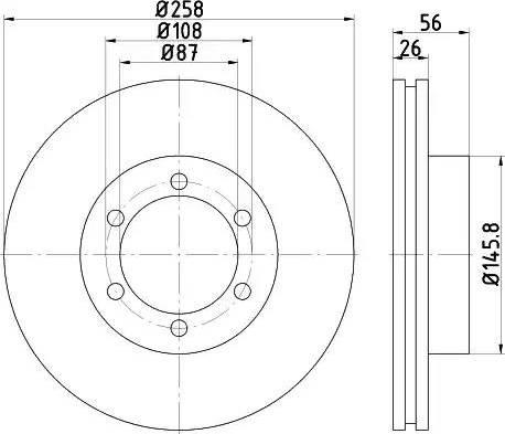 HELLA 8DD 355 117-041 - Bremžu diski interparts.lv