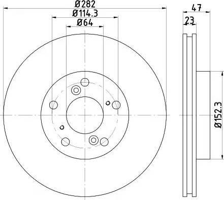 HELLA 8DD 355 117-081 - Bremžu diski interparts.lv