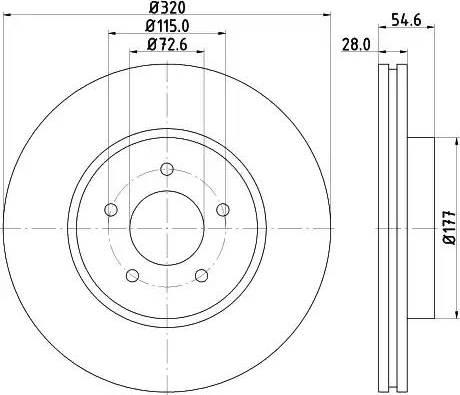 HELLA 8DD 355 117-801 - Bremžu diski interparts.lv