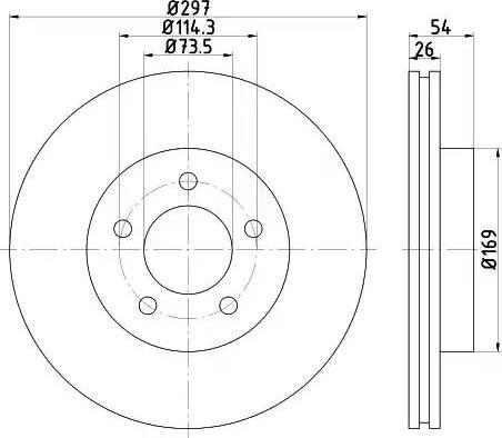 HELLA 8DD 355 117-221 - Bremžu diski interparts.lv