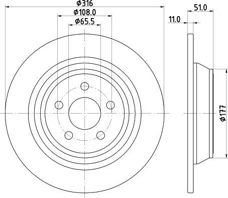HELLA 8DD 355 126-551 - Bremžu diski interparts.lv