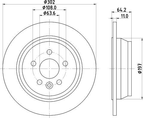 HELLA 8DD 355 126-781 - Bremžu diski interparts.lv