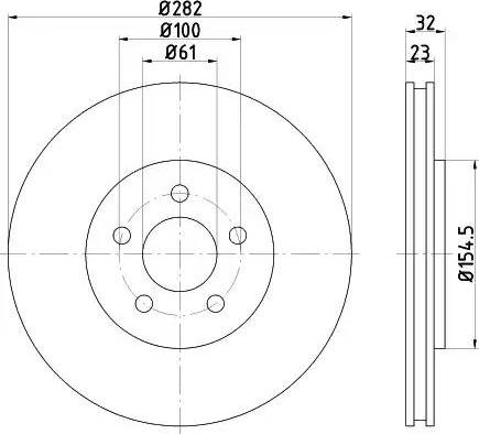 HELLA 8DD 355 120-621 - Bremžu diski interparts.lv