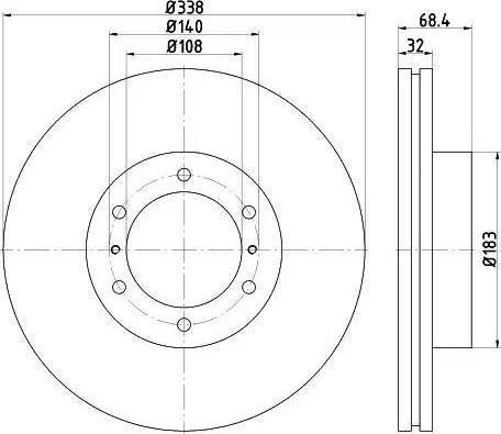 HELLA 8DD 355 116-891 - Bremžu diski interparts.lv