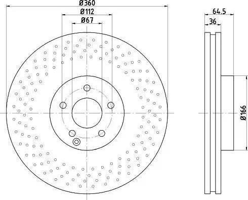 HELLA 8DD 355 121-061 - Bremžu diski interparts.lv