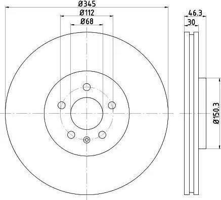 HELLA 8DD 355 112-381 - Bremžu diski interparts.lv