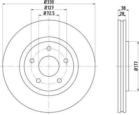 HELLA 8DD 355 123-151 - Bremžu diski interparts.lv
