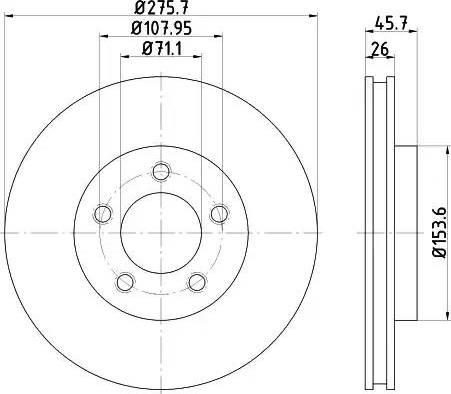 HELLA 8DD 355 122-191 - Bremžu diski interparts.lv