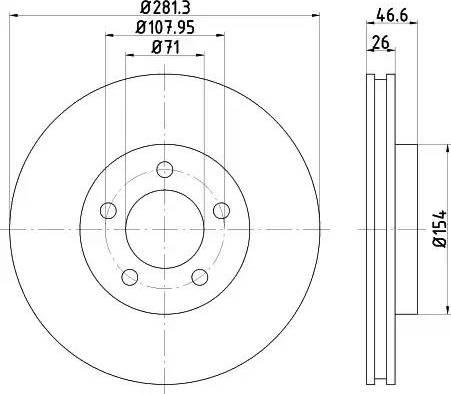 HELLA 8DD 355 122-181 - Bremžu diski interparts.lv