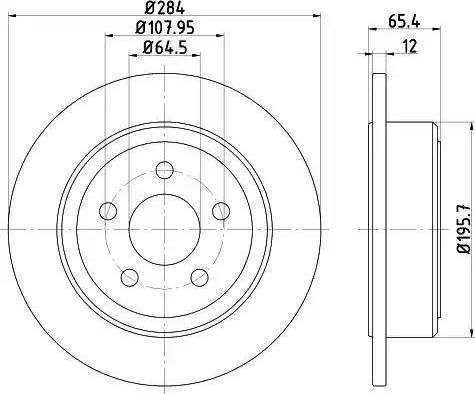 HELLA 8DD 355 122-301 - Bremžu diski interparts.lv
