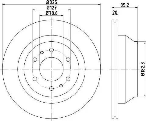 HELLA 8DD 355 122-311 - Bremžu diski interparts.lv