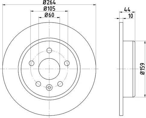 HELLA 8DD 355 122-751 - Bremžu diski interparts.lv