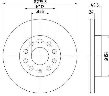 HELLA 8DD 355 122-721 - Bremžu diski interparts.lv