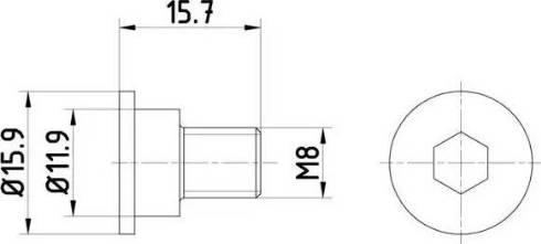 HELLA 8DZ 355 209-031 - Skrūve, Bremžu disks interparts.lv