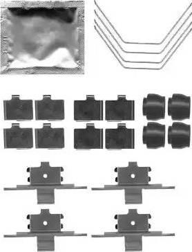HELLA 8DZ 355 204-951 - Piederumu komplekts, Disku bremžu uzlikas interparts.lv