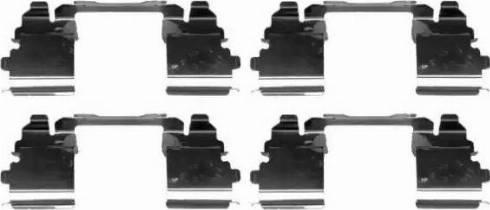HELLA 8DZ 355 205-401 - Piederumu komplekts, Disku bremžu uzlikas interparts.lv