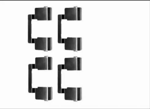 HELLA 8DZ 355 205-571 - Piederumu komplekts, Disku bremžu uzlikas interparts.lv