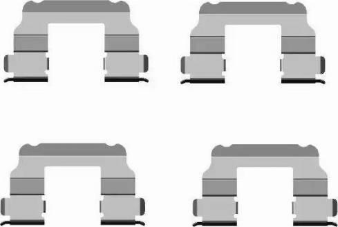 HELLA 8DZ 355 205-091 - Piederumu komplekts, Disku bremžu uzlikas interparts.lv