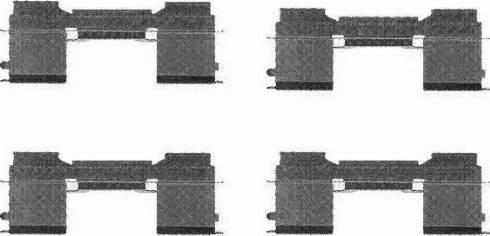 HELLA 8DZ 355 205-051 - Piederumu komplekts, Disku bremžu uzlikas interparts.lv