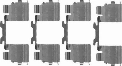 HELLA 8DZ 355 205-111 - Piederumu komplekts, Disku bremžu uzlikas interparts.lv
