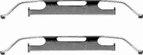 HELLA 8DZ 355 201-291 - Piederumu komplekts, Bremžu suports interparts.lv