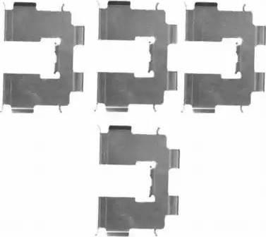 HELLA 8DZ 355 203-941 - Piederumu komplekts, Disku bremžu uzlikas interparts.lv