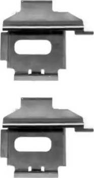 HELLA 8DZ 355 203-521 - Piederumu komplekts, Disku bremžu uzlikas interparts.lv