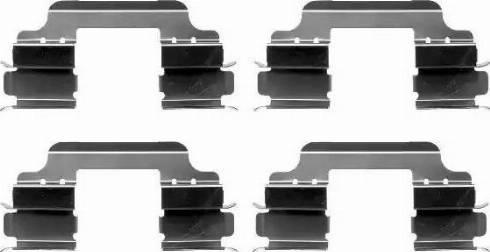 HELLA 8DZ 355 203-141 - Piederumu komplekts, Disku bremžu uzlikas interparts.lv